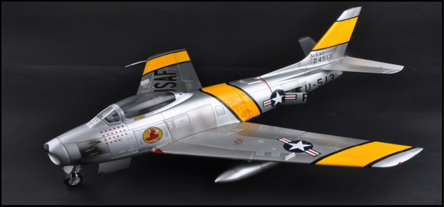 F-86F Sabre, USAF, Major J. Jabara, 1953 (1:18)