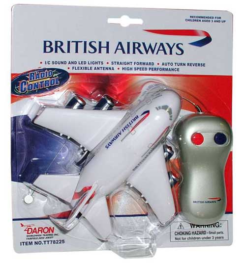 British Airways Radio Control W/LIGHT & Sound