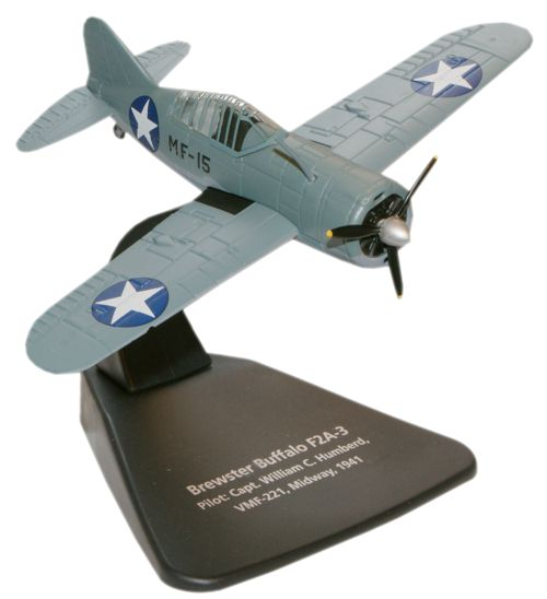 Brewster Buffalo F2A-3 Capt. William C. Humberd, VMF-221, U.S. Navy, Battle of Midway, 1942 (1:72)