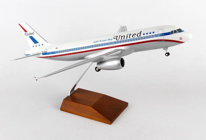 "United A320 (1:100) ""Friendship"" With Wood Stand & Gear"