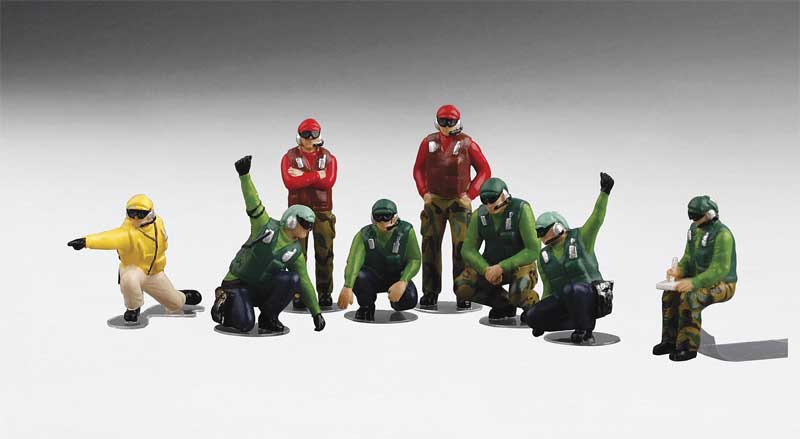 US Navy Deck Crew - Launch Team with 8 Figures (1:72) - Preorder item, order now for future delivery