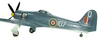Hawker Sea Fury FB11, VW 238/107/Q802 NAS HMS Vengeancem, Cape Town (1:72)