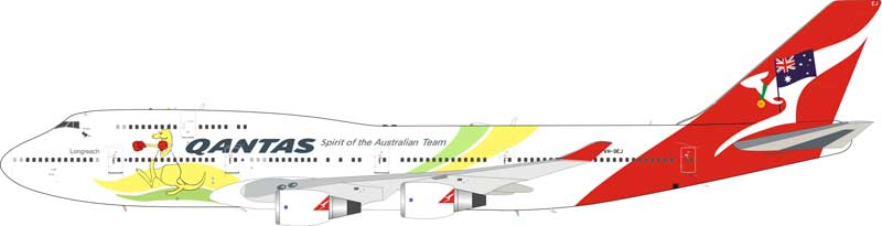"Qantas 747-400 VH-OEJ ""2016 Olympic Livery"" (1:200) - Preorder item, order now for future delivery"