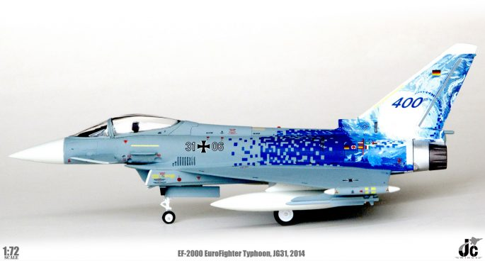 "EuroFighter EF-2000 Typhoon S, TaktLwG 31, Special Marks ""400th Eurofighter Typhoon"", 2014 (1:72) - Preorder item, order now for future"