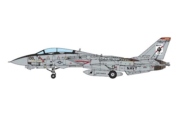F-14A Tomcat, USN VF-41 Black Aces, USS Enterprise, 2001 (1:72) - Preorder item, order now for future delivery