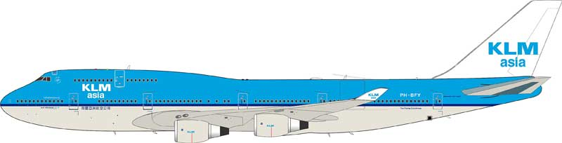 KLM Asia Boeing 747-406M PH-BFY (1:200)