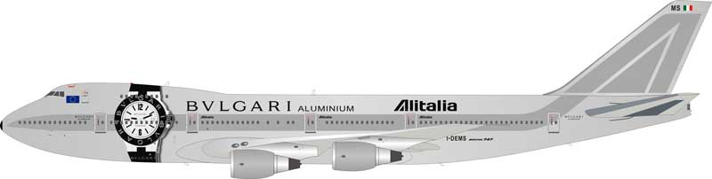 "Alitalia Boeing 747-200 I-DEMS ""Bulgari"" (1:200) - Preorder item, order now for future delivery"