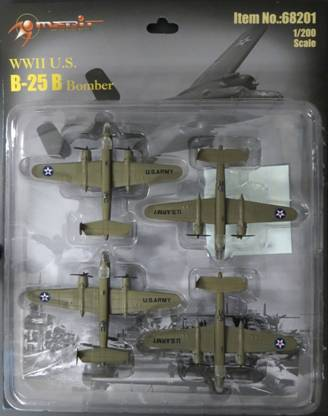 B-25 Mitchell Bomber, Set of 4 (1:200) Includes complete Nose Art and Aircraft numbers decal set for Doolittle Raiders
