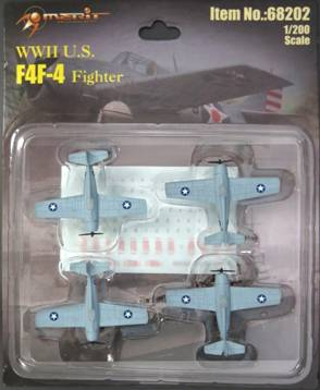 F4F-4 Wildcat, Set of 4 (1:200) Includes decals