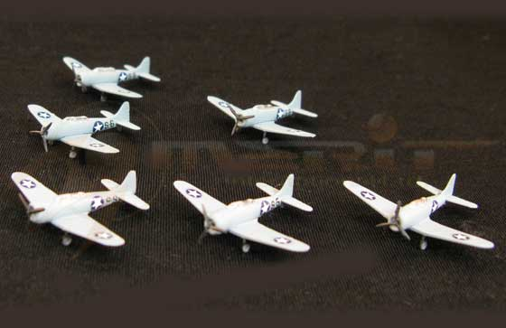 SBD-3 Dive Bomber - 6 piece set (1:350)