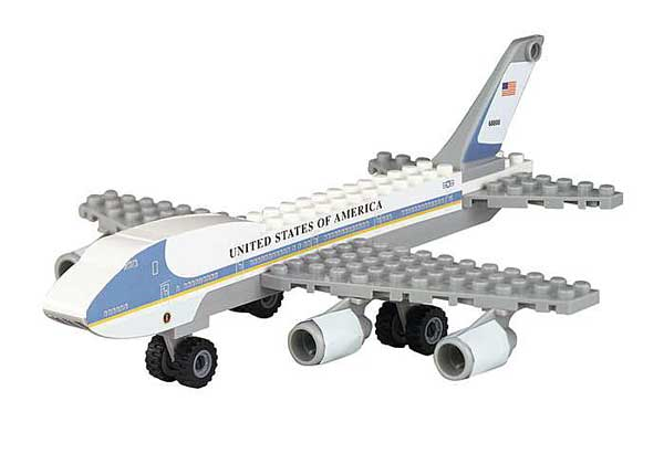Air Force One 55 Piece Construction Toy