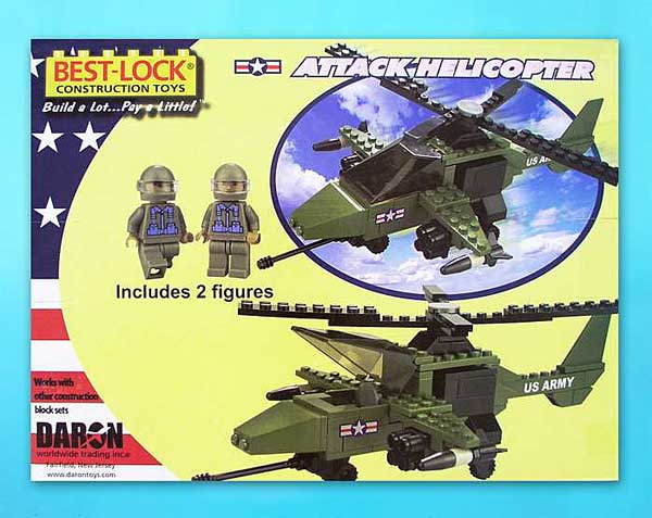 Attack Helicopter 140 Piece Construction Toy