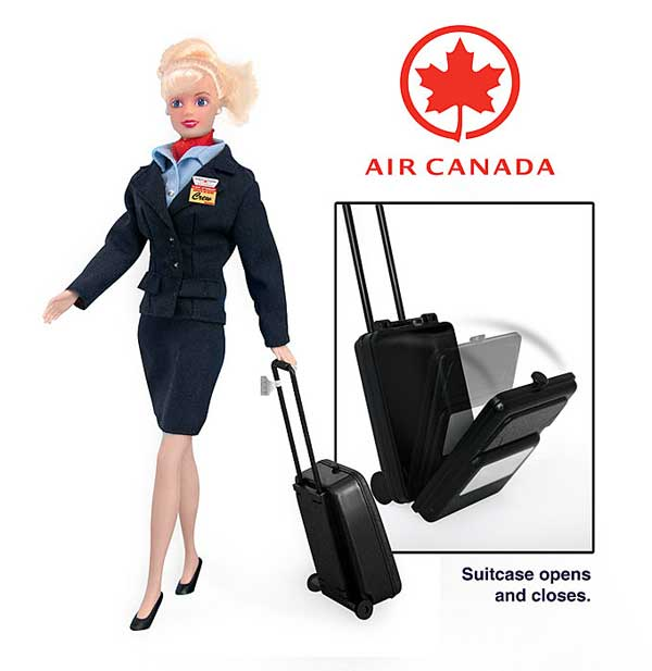 Air Canada Flight Attendant Doll