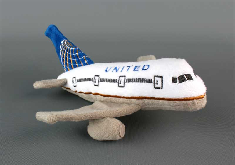 United Airlines (Continental Merger)  Plush Toy W/SOUND