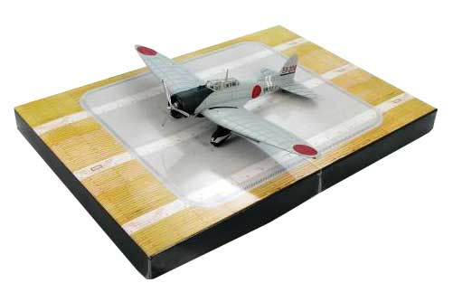 Aichi D3A1 Val: Houkoku (Patriotism Gift) 525, IJN Aircraft Carrier Kaga, Pearl Harbor (1:72) with Display base