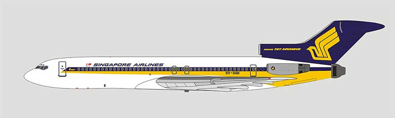 Singapore Airlines 727-212/Adv 9V-SGH (1:400)