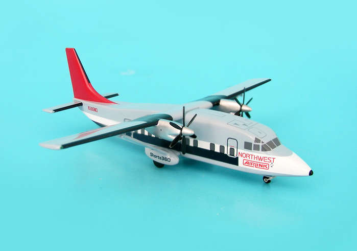 "Northwest Airlink Shorts 360 ""Old Colors"" ~N386MQ (1:200)"