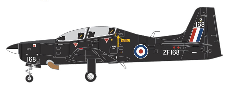 Short Tucano T1, RAF ZF618, Black Scheme (1:72) New Tooling