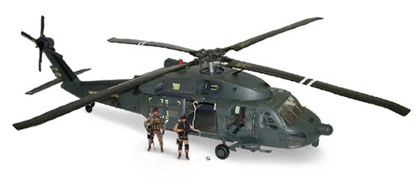 MH-60 Black Hawk Helicopter (1:18) - Blue Box Airplane Models MH-60 ...