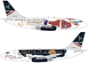 "British Airways B737-200 G-BKYK ""Merry Christmas"" (1:200)"