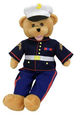"Marine Military Hero Bear ""From the Halls of Montezuma"""