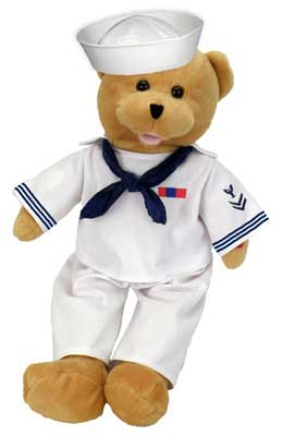 "Navy Military Hero Bear ""Anchors Aweigh"""