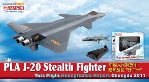 PLA J-20 Stealth Fighter Test Flight Heungtianba Airport Chengdu 2011 (1:144)