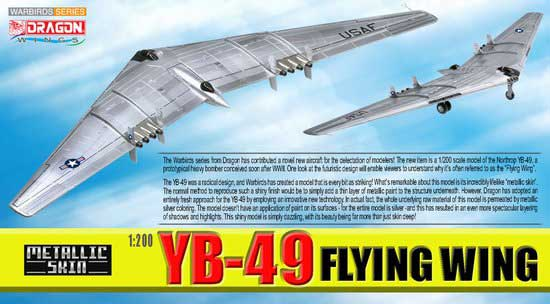 YB-49 Flying Wing, Metallic Skin (1:200)