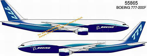 Boeing 777-200 Freighter, 2004 Boeing Livery (1:400)