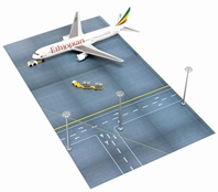 Ethiopian 767-300 Lamppost and Ground Support Vehicles - Airport Terminal Set J (1:400)