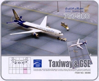 Gulf Traveller 767-300 (1:400) with Ground Set