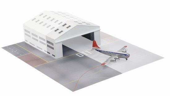 Northwest 377 With Airport Hangar Section (1:400)