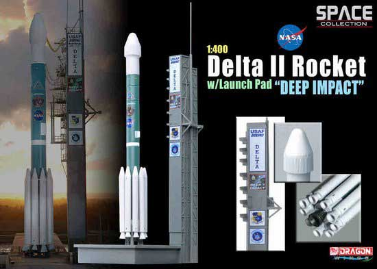 "Delta II Rocket w/launch Pad ""Deep Impact"" (1:400)"