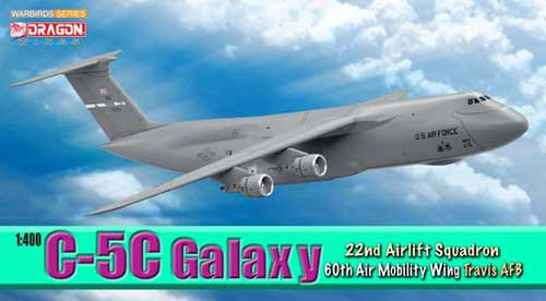 C-5C Galaxy 22nd Airlift Squadron 60th Air Mobility Wing Travis AFS (1:400)
