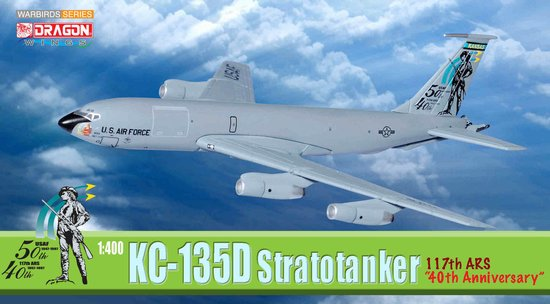 "USAF KC-135D 117th ARS Kansas ANG ""40th Anniversary"" (1:400)"