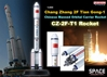 CZ-2F-T1 Rocket (Chang Zheng2F) TianGong-1, Chinese Manned Orbital Carrier Rocket (1:400)