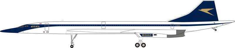 BOAC Concorde G-BOAC (1:200) - Preorder item, order now for future delivery