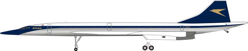 BOAC Concorde G-BOAC Polished (1:200) - Preorder item, order now for future delivery