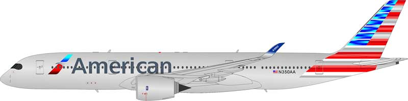 American Airlines A350-900 N350AA (1:200) Flaps Down Configuration