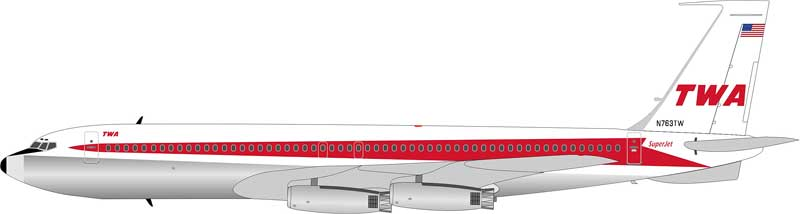 Trans World Airlines (TWA) 707-331 N763TW (1:200)