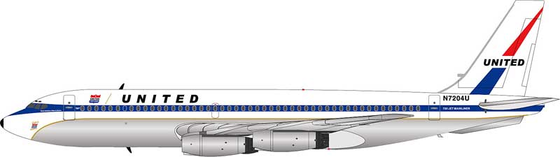 United Airlines 720-022 N7204U (1:200) Mainliner Colors