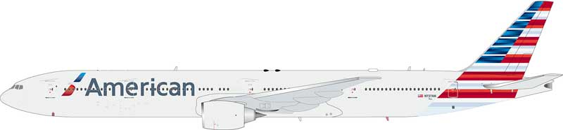 American Airlines 777-323/ER N727AN with stand (1:200) - Preorder item, order now for future delivery