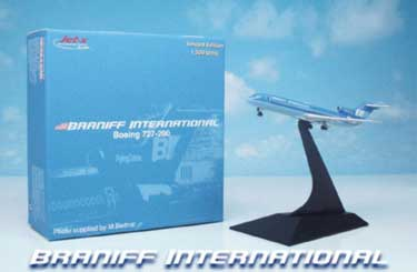 "Braniff International ""Flying Colors"" B727-200 - Blue N410BN (1:400)"