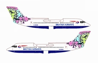 "British Airways Bae-146-300 ~ G-BXAS ""Animals & Trees"" (1:400)"