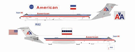American Airline MD-83, White ~ N882RA (1:200) SECOND
