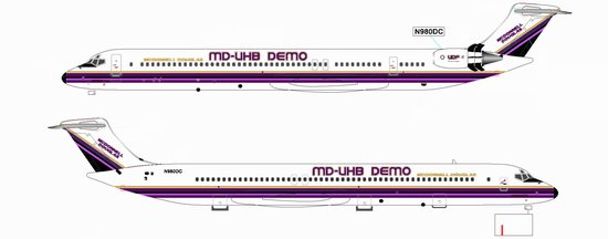 MD-UHB DEMO (MD-92) with Moveable Engine Blades ~ N980DC (1:200)