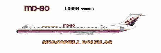 MD-80 McDonald Douglas House Colors (1:200)