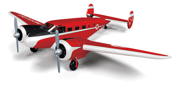 "Beechcraft Model 18 ""Twin Beech"" 1945, Wings of Texaco Airplane Series #22 (2014) Special Edition in Red (1:48)"