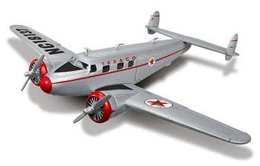 1937 Lockheed 12A Electra Jr. (1:50) Wings of Texaco Airplane Series #24 2016, Regular Edition in Silver with Texaco Graphics