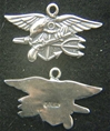 US Navy Seals Insignia Sterling Charm US Navy Seals, Seals Charm, Sterling Charm